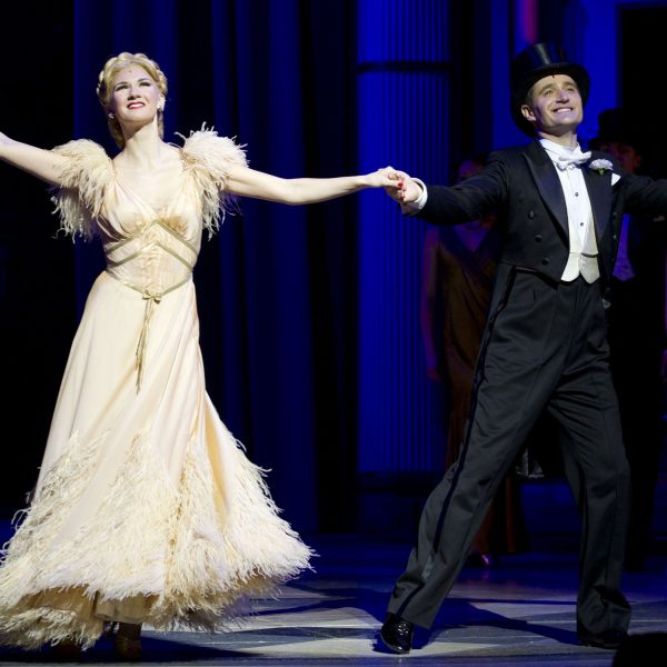 Summer Strallen (Dale Tremont) and Tom Chambers (Jerry Travers) during the curtain call on Press Night for Top Hat at the Aldwych Theatre, London, England on 9th May 2012. (Credit should read: Dan Wooller/wooller.com). Paid use only. No Syndication