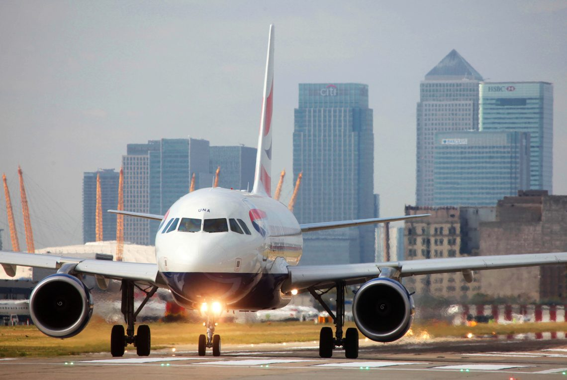 British Airways Business only flight from London City Airport