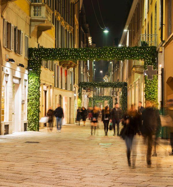 Famous shopping street, via della spiga