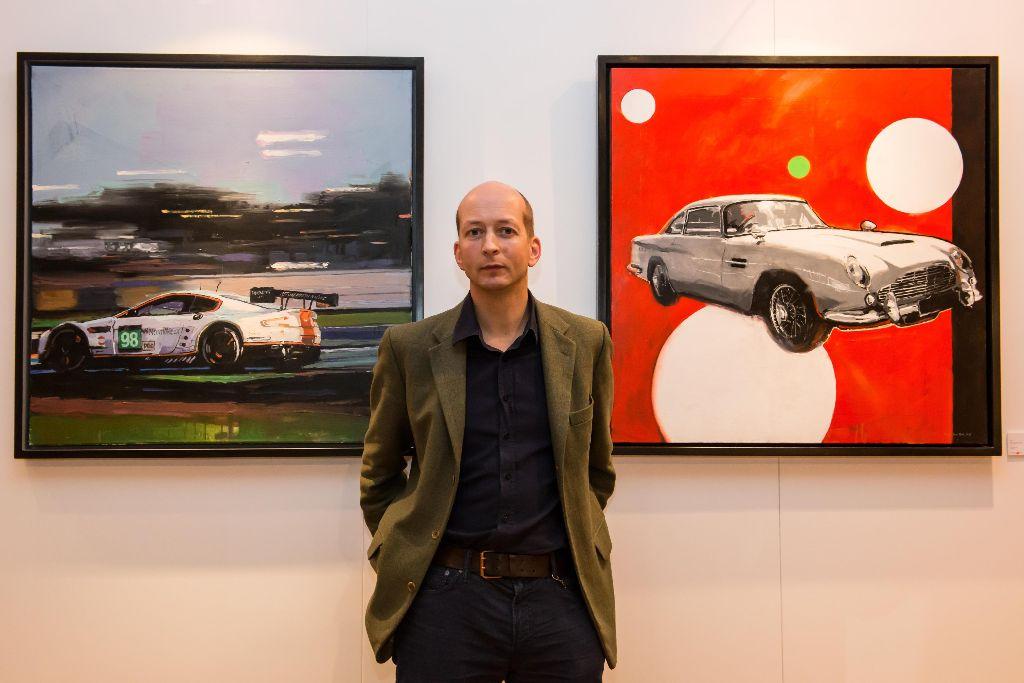 Aston Martin centenary celebrations on canvas.