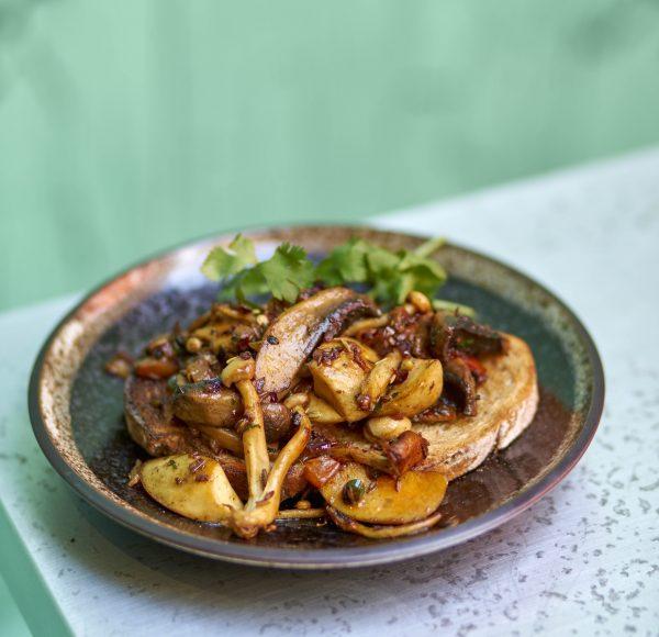 Kadhai Mushroom on Sourdough Toast