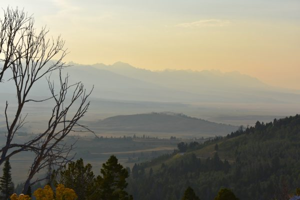 Sawtooth Range evening haze