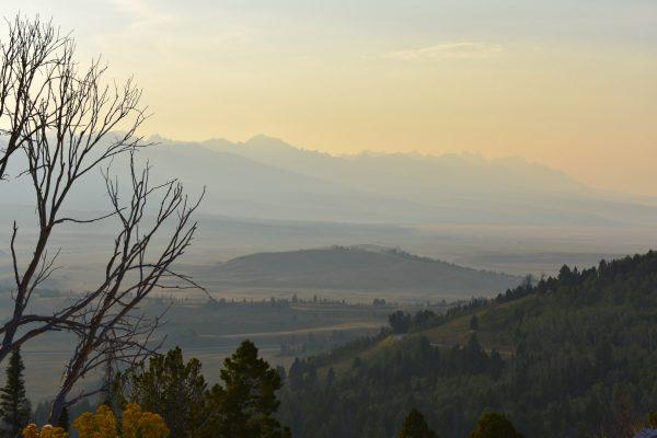 Sawtooth Range evening haze