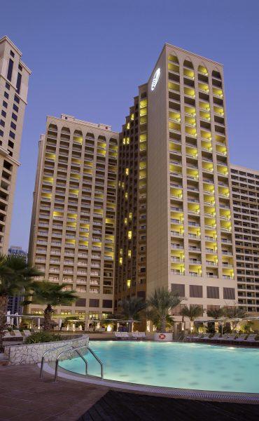 Amwaj Rotana Jumeirah Beach Residence,Dubai - Night Exterior Shot