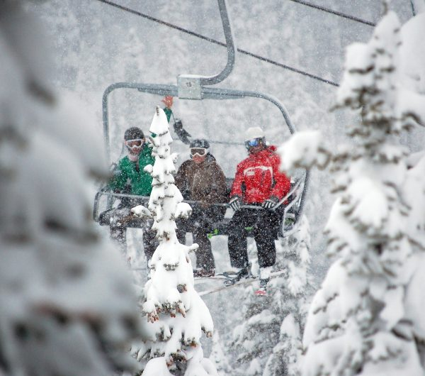 Riding the chairlift_Marmot Basin