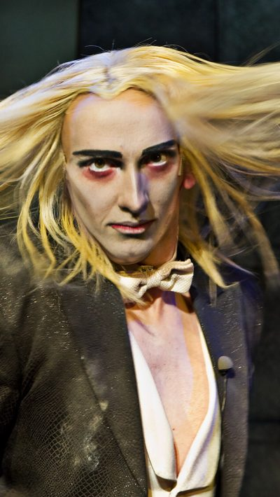 Kristian Lavercombe playing Riff Raff in the Rocky Horror Show