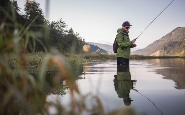 Angler Im Wiestalstausee
