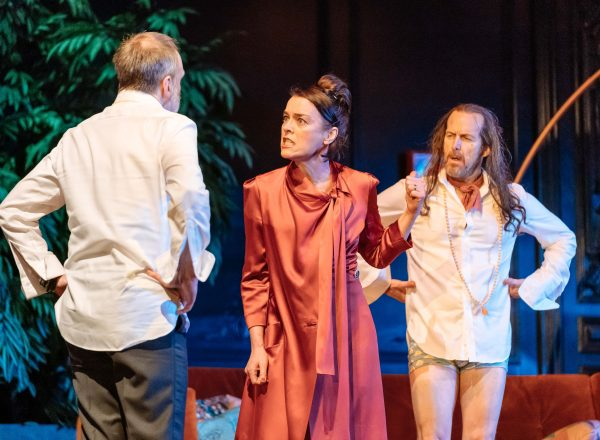 Kevin Doyle, Olivia Williams, Denis O'Hare in Tartuffe by Molière in a new version by John Donnelly. photo by Manuel Harlan