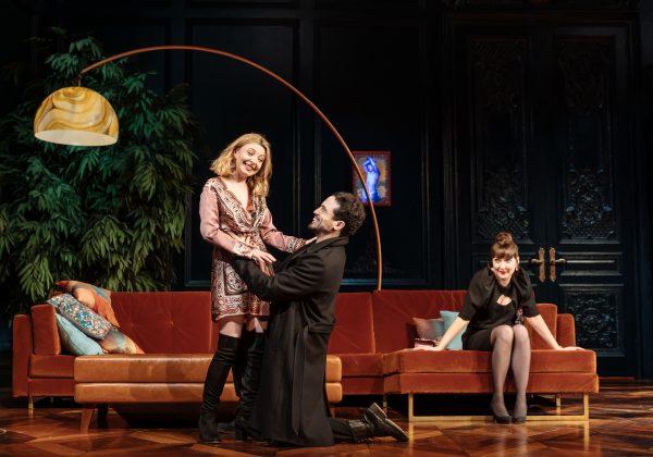 Kitty Archer, Geoffrey Lumb,Kathy Kiera Clarke in Tartuffe by Molière in a new version by John Donnelly. Image by Manuel Harlan