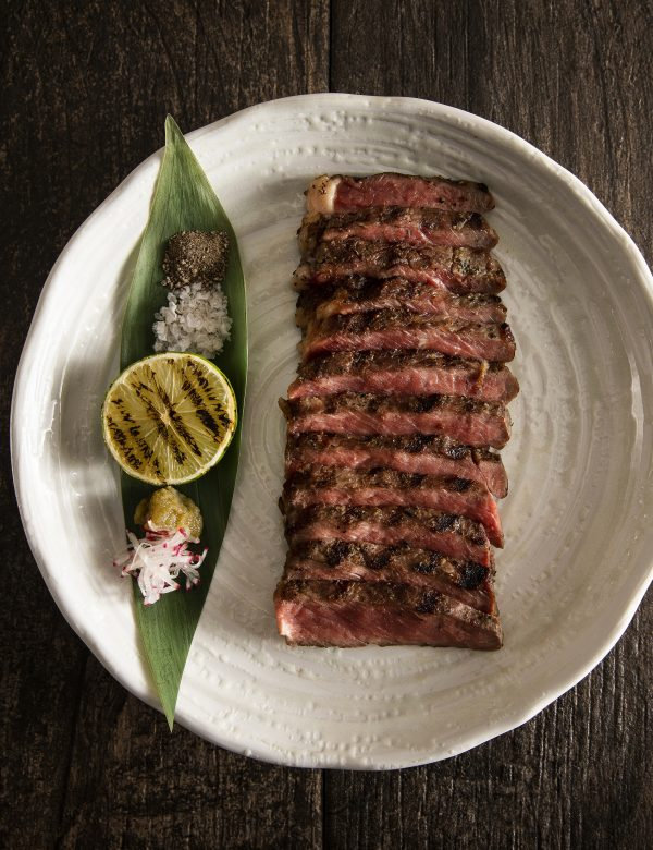 Peter Street Kitchen 28-Day-Aged Rib-Eye Beef with Yuzu Kosho, 20 Smoked Sea Salt and Black Pepper