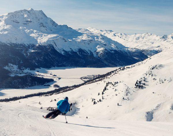 St Moritz Skiing Silvaplanna