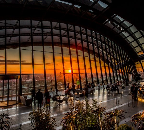 Fenchurch Terrace at Sky Garden Sunset