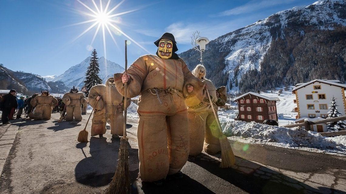 Carnaval at Evolène, Switzerland