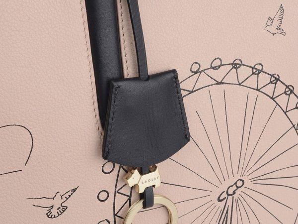 Radley London Leather Shopper Large Shoulder Bag, Blush Pink