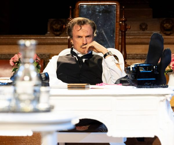 Jonathan Firth (Sir Wilfrid Robarts, Q.C.) in Witness for the Prosecution. Photo by Ellie Kurttz.