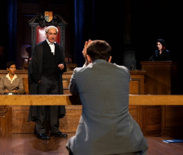 The cast of Witness for the Prosecution. Photo by Ellie Kurttz. (01)